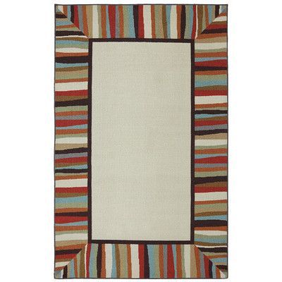 Mohawk Home Patio Border Rainbow Outdoor Area Rug Rug Size: 5' x 8'