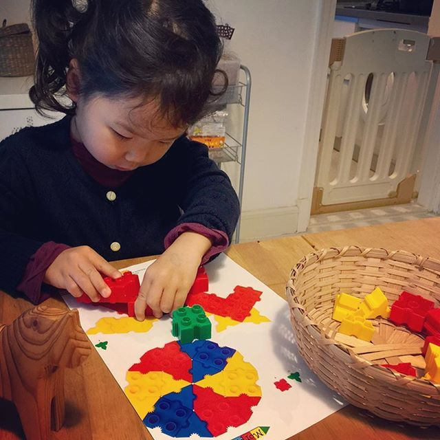 The IKEA wooden horse as an inspiration for a #morphun brick build! . . . . . #stemgirls  #timberdoodle  #morphunjunior  #morphun