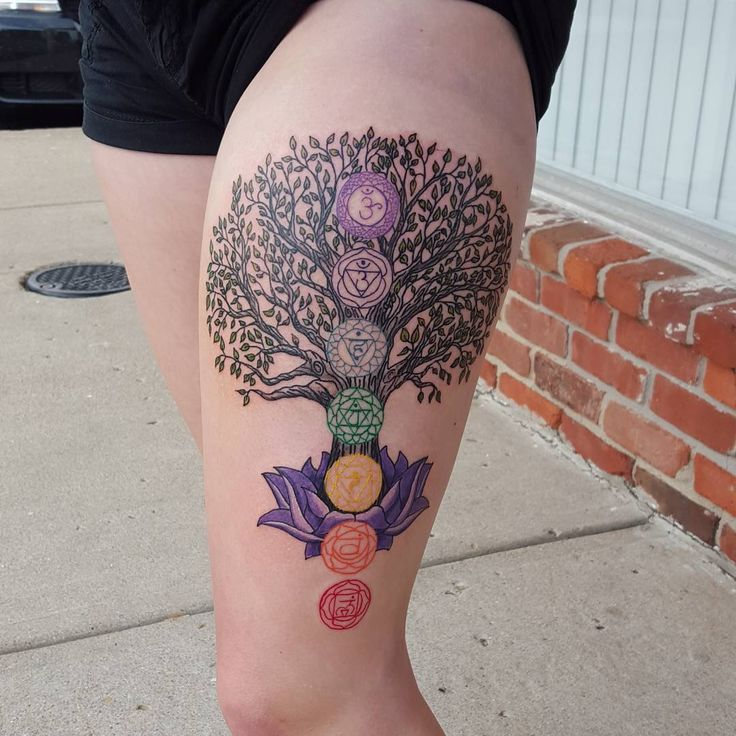 65 Impressive Tree Tattoos - Family Trees , Modern Life Designs Check more at http://tattoo-journal.com/65-impressive-tree-tattoos/