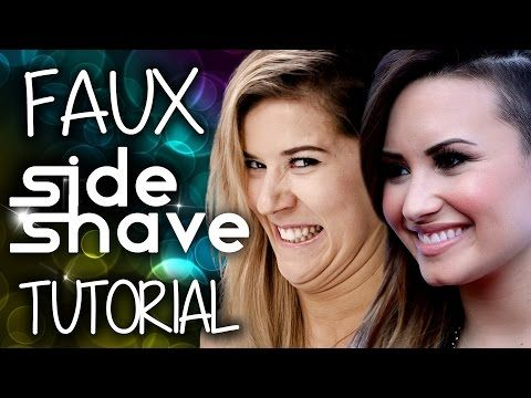 ▶ Demi Lovato Faux Side Shave Tutorial with Meghan Rosette - YouTube