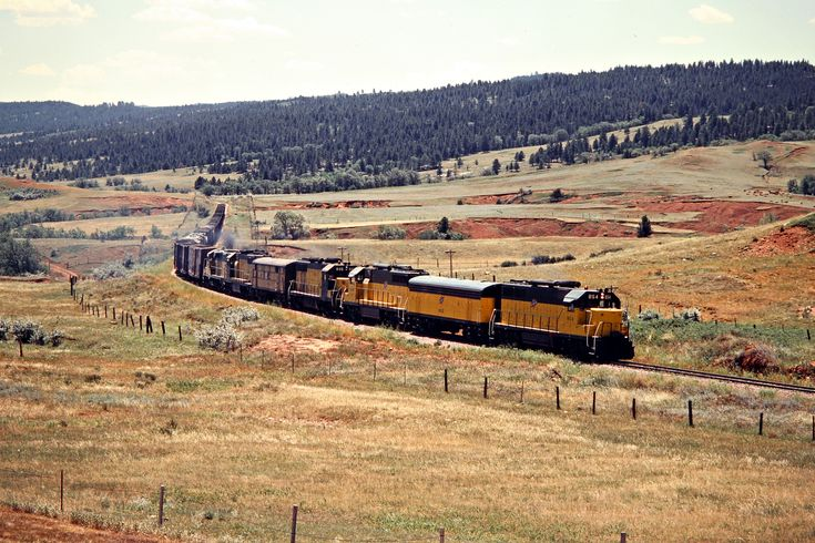 CNW, Sturgis, South Dakota, 1980 Westbound Chicago and North Western Railway freight train in Sturgis, South Dakota, on July 17, 1980. Photograph by John F. Bjorklund, © 2015, Center for Railroad Photography and Art