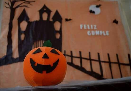 Feliz cumpleaños decoración #Halloween