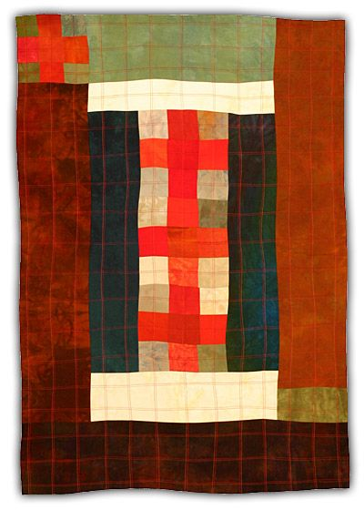 Eleanor McCain - Art Quilts: Galleries - Nine Patch/Cross Series
