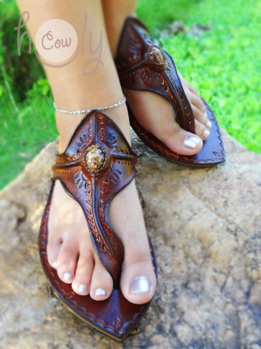 100% Handmade Crazy Moroccan Brown Leather by HolyCowproducts