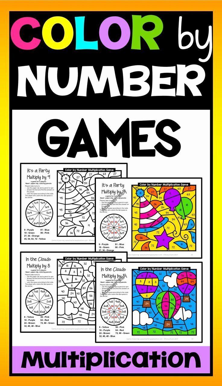 Coloring By Number Games Luxury Multiplication Color By Number Games Bonus Multiplication Number Games Numbers Preschool Printables Color Worksheets