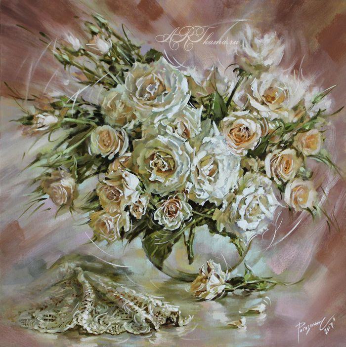 розы в теплом колорите