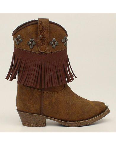 Blazin Roxx Toddler Girls' Annabelle Fringe Zip Cowgirl Boots - Snip Toe |  Sheplers