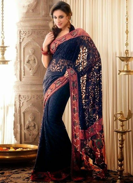 Indian Designer Saree Fashion 2014-2015 for Girls | Designer Sarees Designs | Latest Indian Sarees
