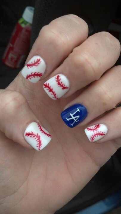 Dodgers tee ball my nails