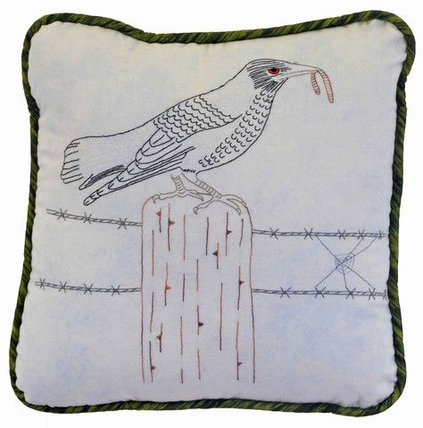 $7   The magpie is number 6 in our Australian Bird Series of Stitcheries.