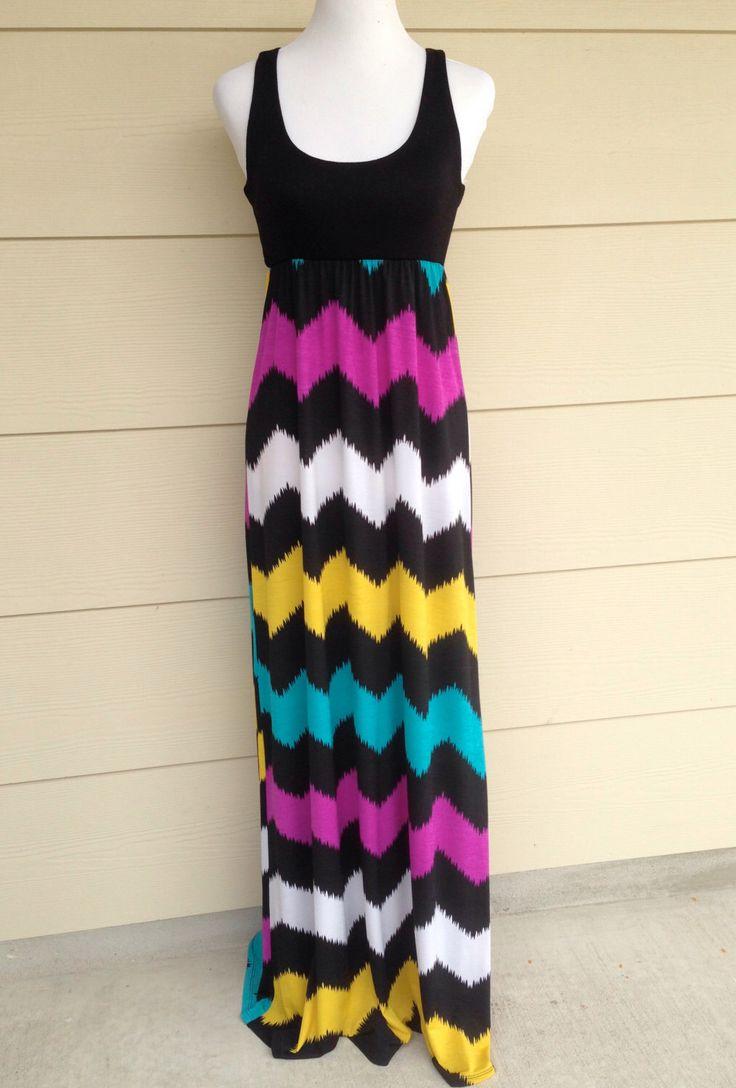 Womens maxi dress Chevron Maxi Dress Multi Color Chevron Sleeveless Dress Small by DecorPlace on Etsy https://www.etsy.com/listing/239769838/womens-maxi-dress-chevron-maxi-dress