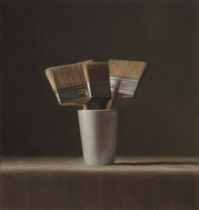 Still Life - Varnishing Brushes by Harry Holland