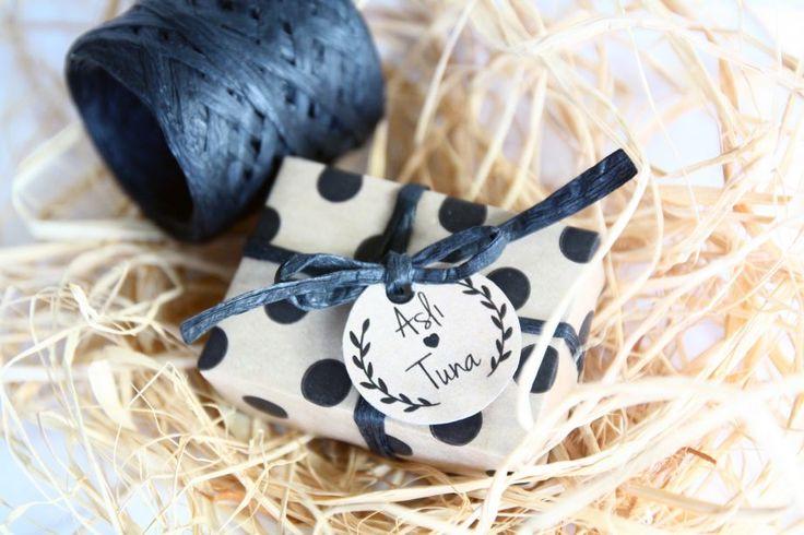 Siyah Puantiyeli Sabun Bebek/Nikah Şekeri