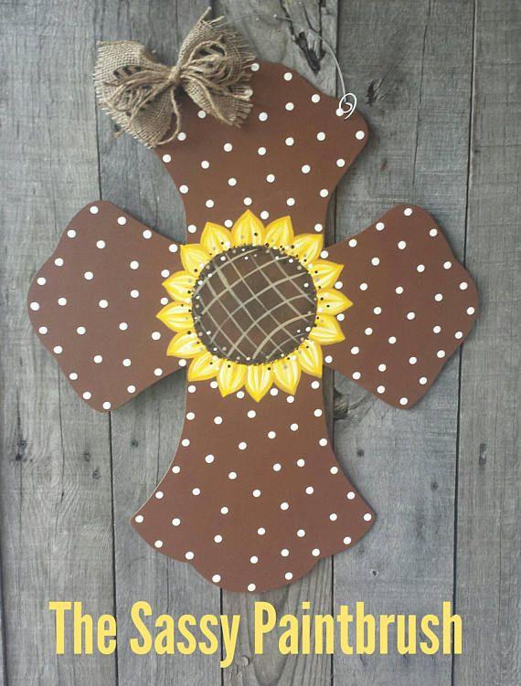 Sunflower Door Hanger Spring Door Hanger Summer Door Hanger Fall Door Hanger Only 30 10 Shipping C Cross Door Hangers Wooden Door Hangers Door Hangers