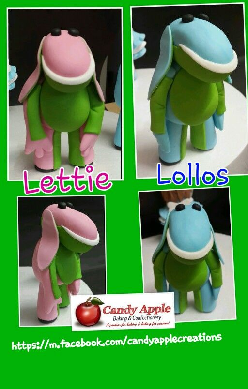 Lettie & Lollos. The are from a South African children's tv show. Order for a 2 years old cake. https://m.facebook.com/candyapplecreations