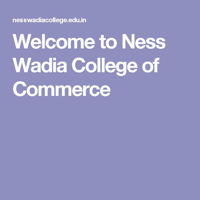 Welcome to Ness Wadia College of Commerce