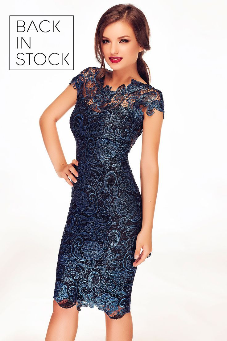 Special midi lace dress in blue hues, now available:http://bit.ly/blue-tania-pinterest