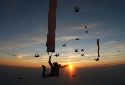 Sunset jump at the Airboss boogie in France.