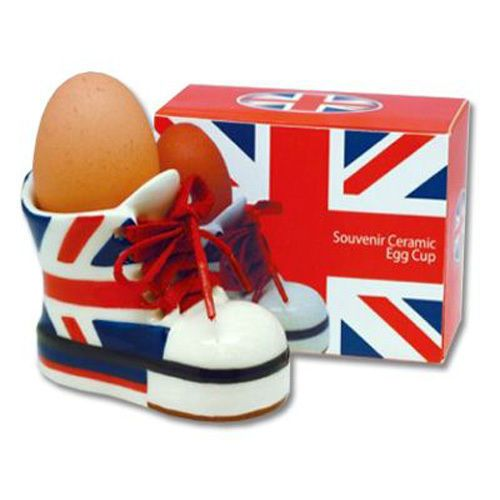 Union Jack Boot Style Ceramic Egg Cups - Gift Boxed - GB UK British in Maison, Cuisine, arts de la table, Arts de la table | eBay