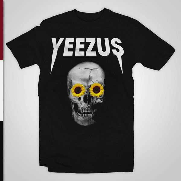 Yeezus Shirt Kanye West T-Shirt Yeezus Tour merchandise ($17) ❤ liked on Polyvore featuring tops, t-shirts, shirt top, tee-shirt, unisex t shirts, unisex shirts and unisex tops