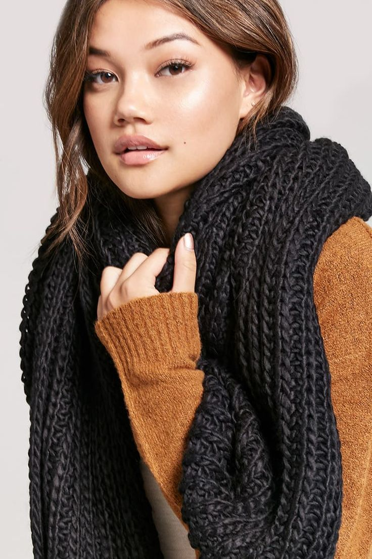 Product Name:Chunky Ribbed Oblong Scarf, Category:ACC, Price:14.9