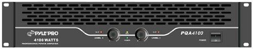 Pyle-Pro PQA4100 19'' Rack Mount 4100 Watts Professional Power Amplifier W/Digital SMT Technology by Pyle. $162.01. This rack-mountable professional power amplifier packs a huge punch – 4100 watts of maximum power. This amplifier is equipped with dual 1/4 Inches and RCA inputs as well as dual speakon, 1/4 Inches, and Binding Post Connectors. The dual output level controls allow you to tweak your levels to your exact specifications. The soft start limiter prevents turn-on damag...