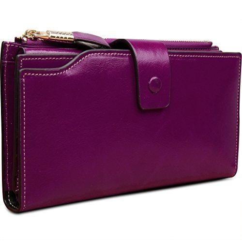 Oferta: 39.99€ Dto: -70%. Comprar Ofertas de Yaluxe Cartera De Mujer con cremallera y gran Capacidad y estilo lujoso Purpura barato. ¡Mira las ofertas!