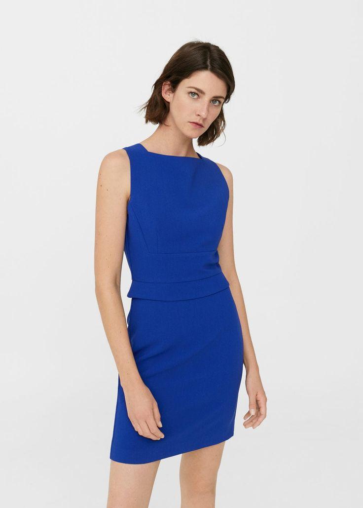 Seam-detail shift dress - Women | MANGO USA