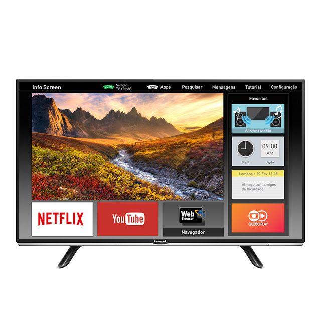 """Smart TV LED 40"""" Panasonic Viera TC-40DS600B Full HD 2 HDMI 1 USB << R$ 149900 em 10 vezes >>"""