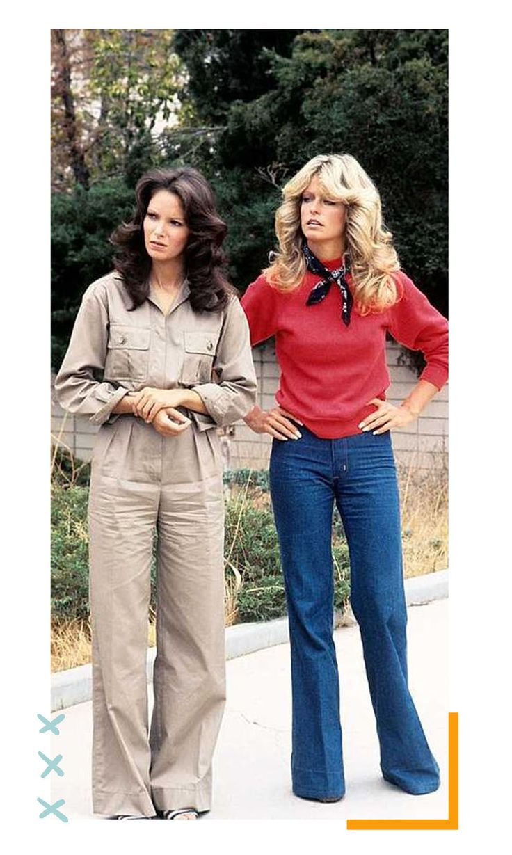 S ANGELS - gallery - Season One - Farrah Fawcett-Majors , Jaclyn Smith and Kate Jackson played undercover detectives Jill Munroe, Kelly Garrett and Sabrina Duncan of the Charles Townsend. 70s Outfits, Vintage Outfits, Fashion Outfits, Seventies Fashion, 60s And 70s Fashion, Trendy Fashion, Vintage Fashion, 70s Women Fashion, High Fashion