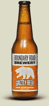 New Zealand's Boundary Road Brewery- Grizzly Beer.   We love Beer. We love Ginger Beer. So we've cunningly combined them in Grizzly Beer, a new experience in brewing. We've dialled back the hops, reducing the bitterness to allow the ginger to shine through. A truly unique beer for lovers of truly unique beers. You know who you are.