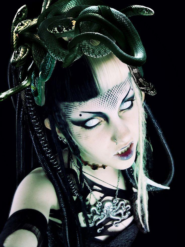 Medussssa gorgon look by Psychara on DeviantArt