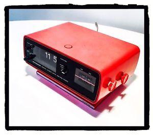Radio Vintage Radiosveglia Oriologio Cartellini MINERVA U 20 Rossa Radio OM FM | eBay