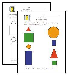 8 best Size Worksheets images on Pinterest | Preschool age ...