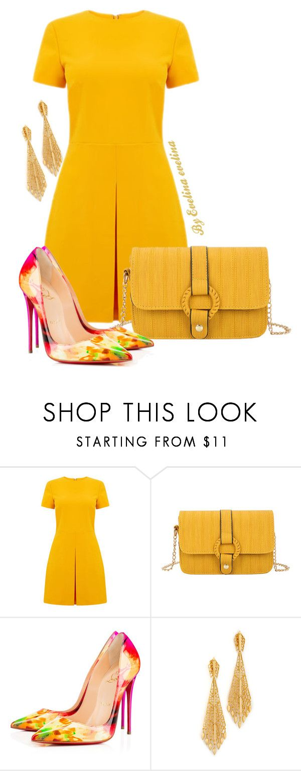 """EVE"" by evelina-er ❤ liked on Polyvore featuring Warehouse, Christian Louboutin and Ben-Amun"
