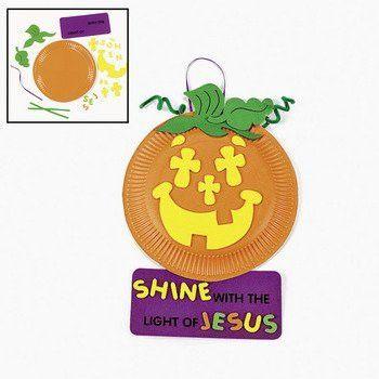 Paper Plate & Foam Christian Pumpkin Craft Kit - Sunday ...