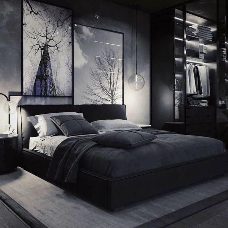 B L X C K Uk On Instagram Premium Blxck Colour Color Colorblack Colourblack Gris Blac Modern Bedroom Bedroom Design Black Rooms Dark bedroom ideas uk
