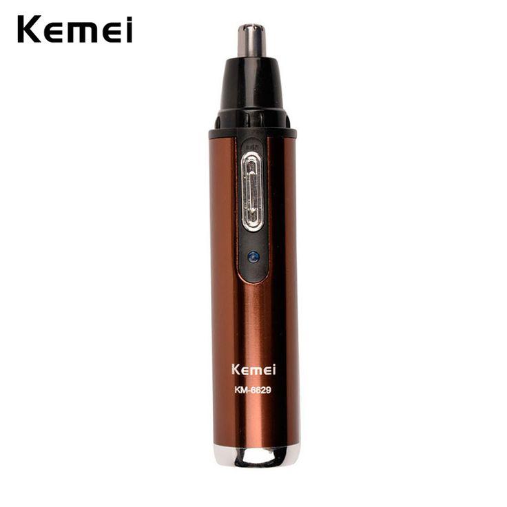 Kemei 2-in-1 elektrische neus en oor tondeuse voor mannen en vrouwen Oplaadbare Wasbare Baard Haar Scheerapparaat Gezichtsverzorging apparaat CE _ 740