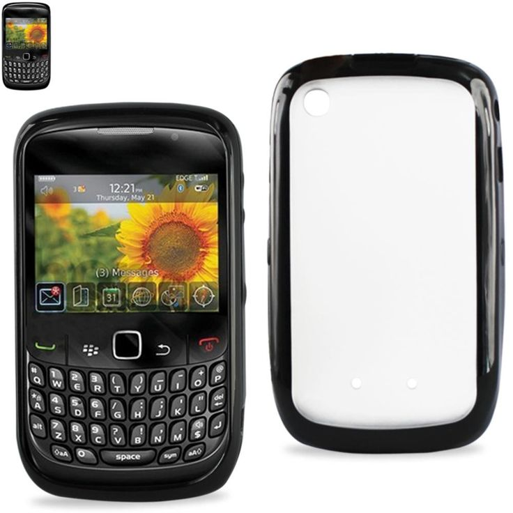 Reiko Protector Cover PC+TPU Blackberry Curve 8530 Black