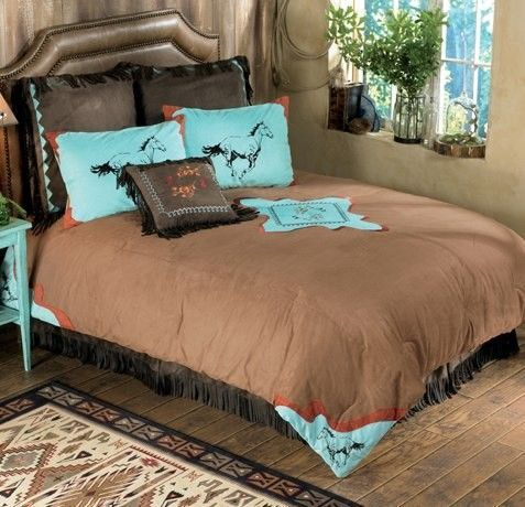 cowboy, horse themed room for tweens, teens, and girls. Beautiful design find more at www.inspireandmake.com