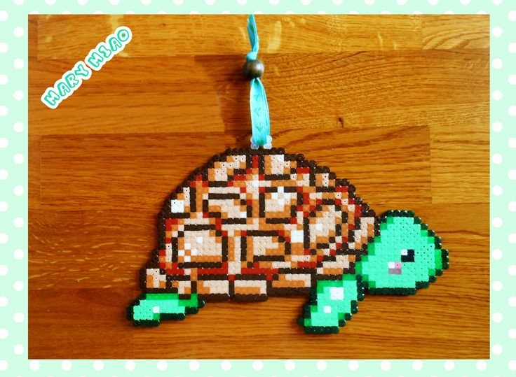 Tartaruga PYSSLA schema, PERLER BEADS turtle pattern *** https://www.youtube.com/watch?v=Yhrc_rDtXY8