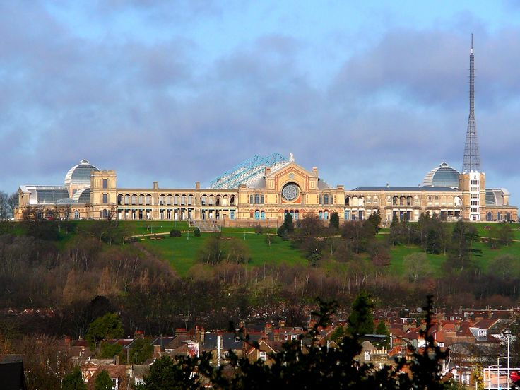 Great London Buildings: Alexandra Palace.  Lovely parkland and great views.