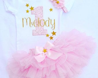Baby girl first birthday outfitFirst Birthday Girl by KidsFunLand