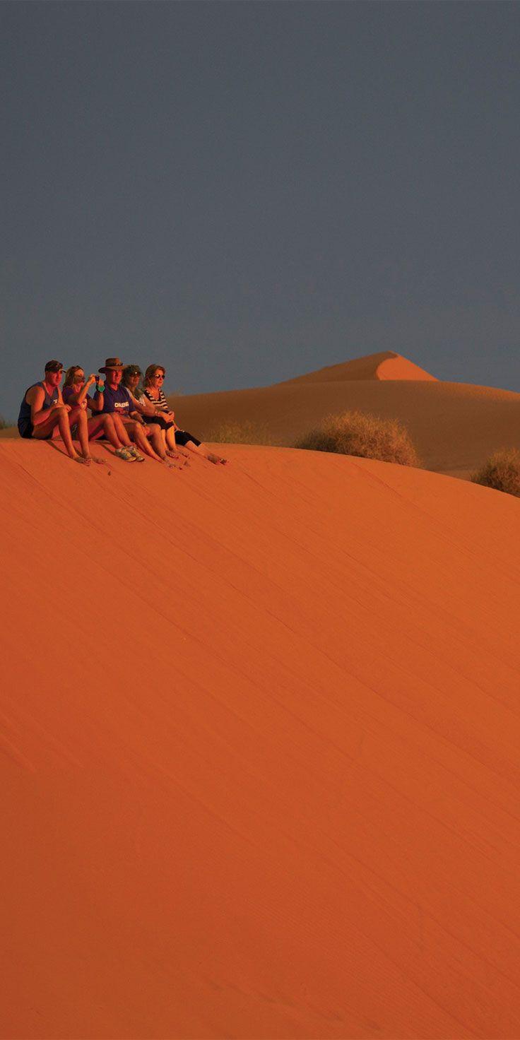 Big Red - a 30 metre high sand dune in the Simpson Desert, Birdsville - by Rowan Bestmann & @visitqueensland