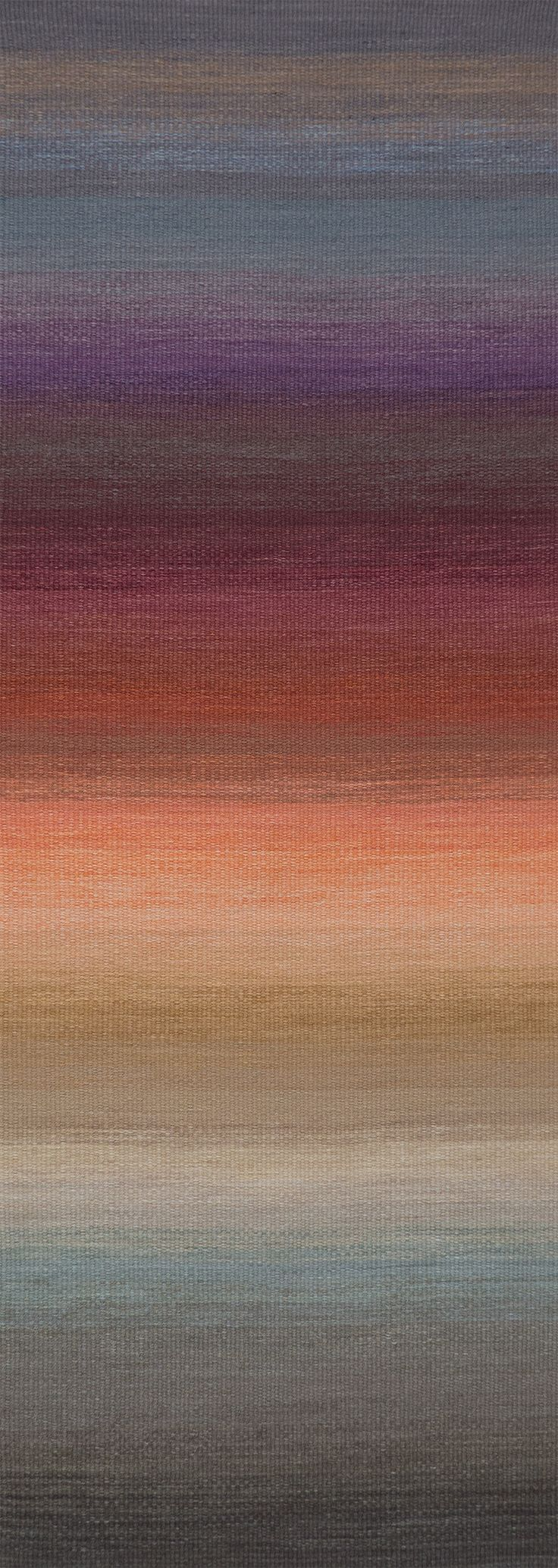 """Hand woven rug """"Long View"""" Connie Enzmann-Forneris"""