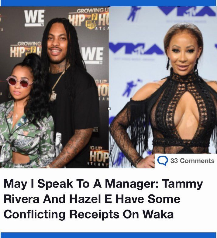 We're sure y'all already know about the earlier #HazelE/#TammyRivera gossip of the day. Hazel tried to start some isht by telling Tammy she looked fat in a picture, and she clapped back mentioning her trying to throw herself at married men….the man she's married to, specifically, #WakaFlocka.  Since then, things have gotten a whole lot messier, and now both parties have posted receipts to Instagram. The Shade Room got an exclusive from Hazel, which includes 6 pages of texts from Waka that…