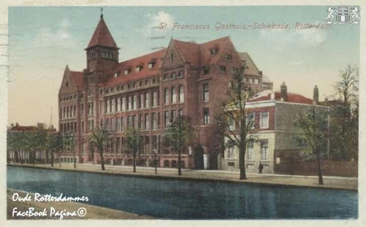 Schiekade met rechts de sint franciscus gasthuis 1919
