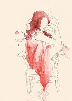Era una mujer a medias... Deshabitada en plena madrugada... Maltrecha por las mañanas... Desesperada... pero siempre a la espera.... De un te quiero, con todas y cada una de sus letras... M.A.R.