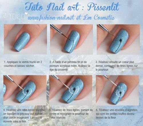 Tuto Nail art : Les pissenlits