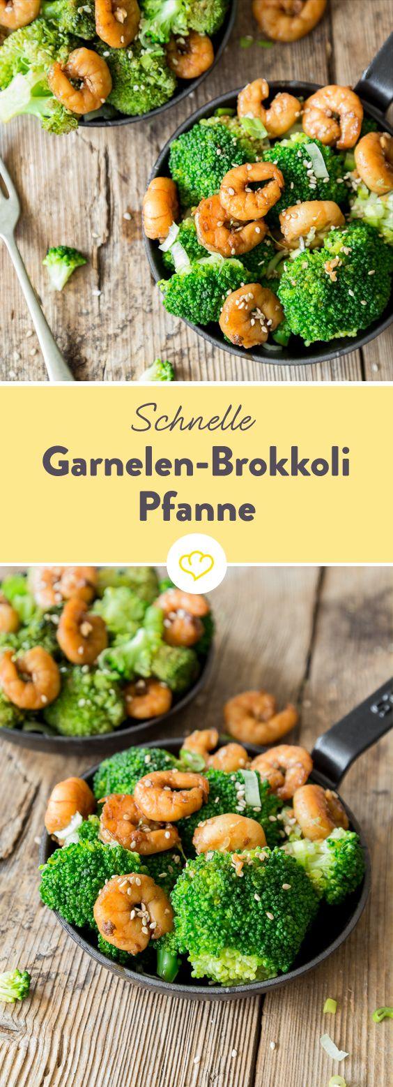 Schnelle Küche: Garnelen-Brokkoli-Pfanne
